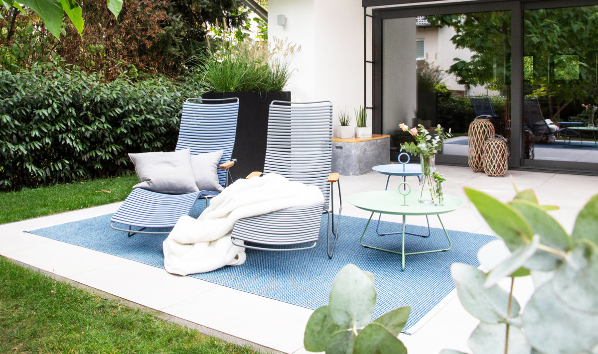 Inspirationen für eine schöne, moderne und gemütliche Terrasse.