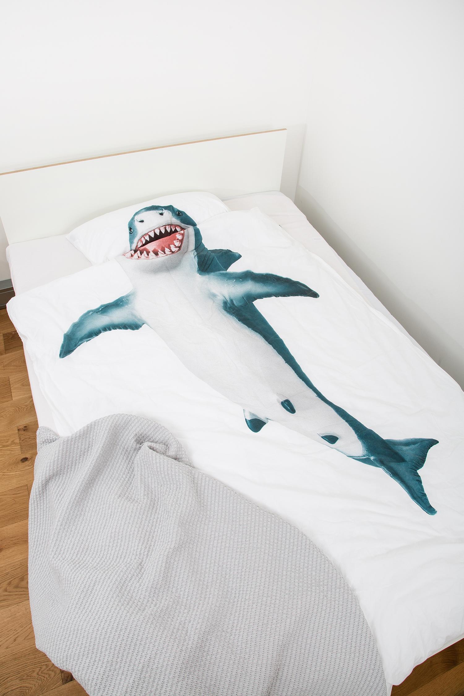Snurk Bettwäsche weiß mit Hai