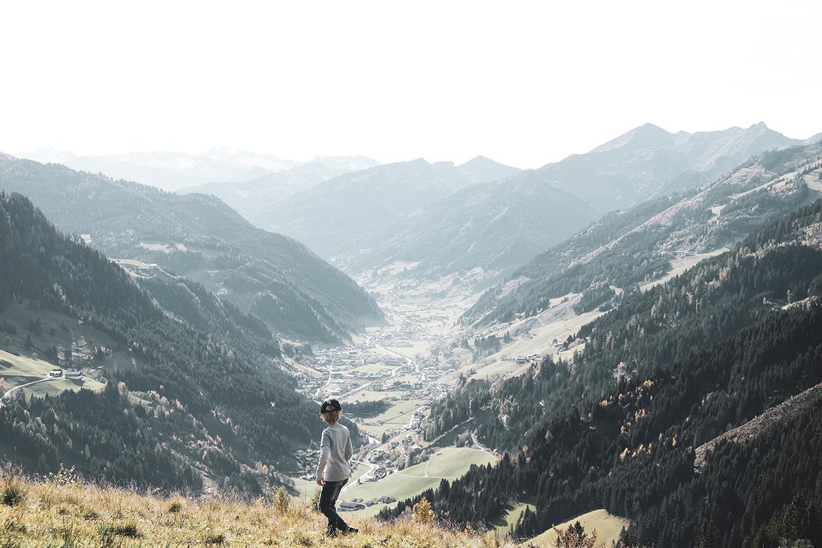 Ausblick in die Berge Moar Gut
